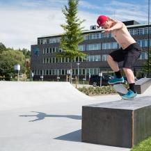 Invigning av Sundsvalls nya skateboardpark.